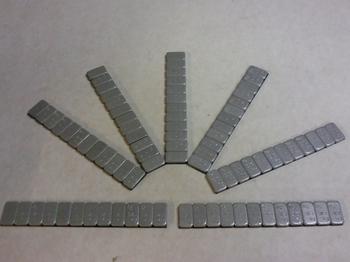 Plakzink 1 x 60 gram gecoat 4mm hoog en 19 mm breed