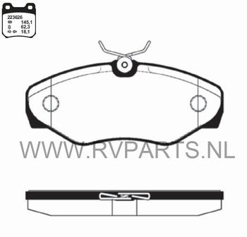 Remblokset vooras Opel Vivaro