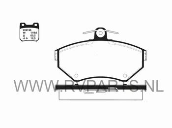 Remlokken vooras VW Lupo vanaf 60kw