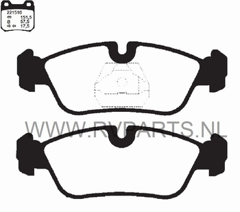 Remblokken vooras BMW 3-Serie E36