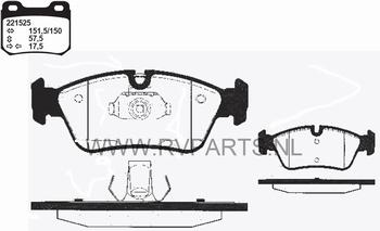 Remblokken vooras BMW 5-Serie E46